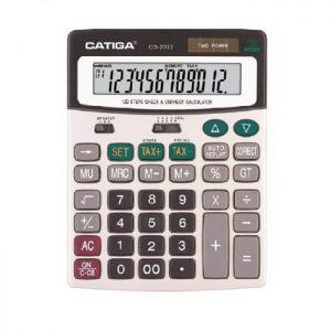 ماشین حساب رومیزی کاتیگا CD-2372-12RP
