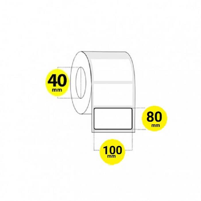 لیبل برچسب پی وی سی 80×100