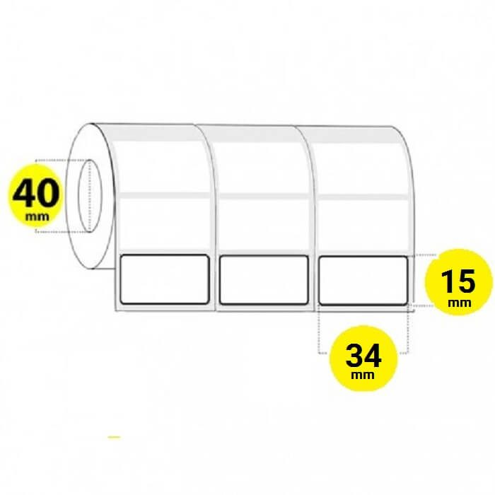 لیبل برچسب کاغذی 34×15