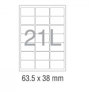 کاغذ پشت چسب دار A4 برش خورده نواجت مدل 21L