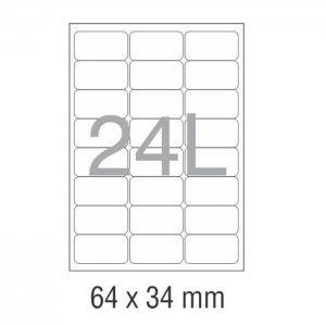 کاغذ پشت چسب دار A4 برش خورده نواجت مدل 24L