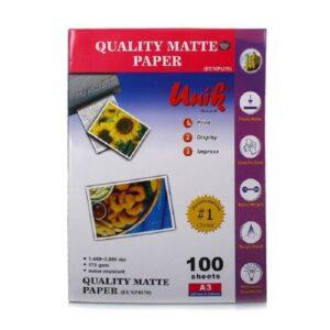 کاغذ کوتد 170 گرمی یونیک سایز A3