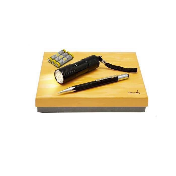 ست خودکار استایلوس و چراغ قوه ملودی کد 16