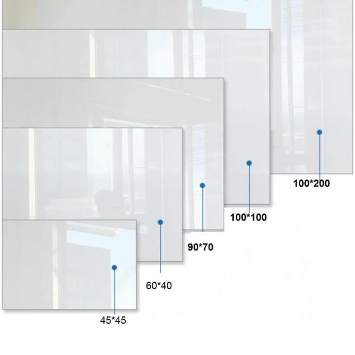 تخته وایت برد شیشه ای پارسیان سایز 100×200